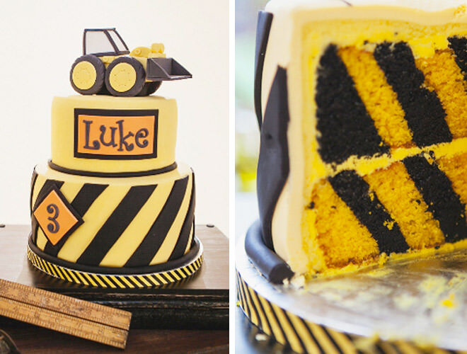 Decorate the outside and inside of your cake like this Hazard celebration bake!