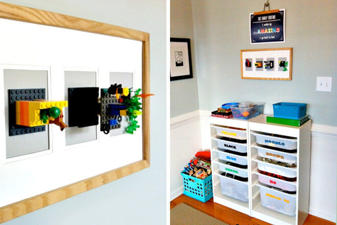 Use The Trofest IKEA Storage Unit To Store The Familyu0027s Different LEGO  Colours