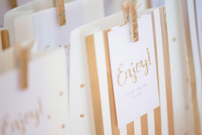 How to style a lolly station - Personalised stationery adds that super special touch to your table.