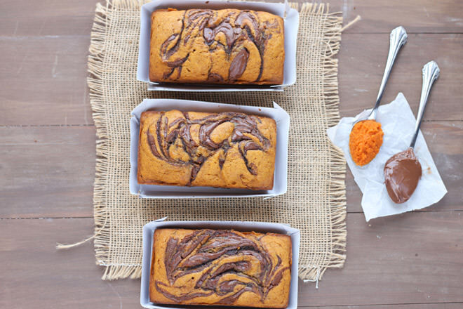 We can't stop staring at this Nutella swirled pumpkin bread. It's so pretty! This idly biddy loaf will give your little babe that warm fuzzy feeling inside