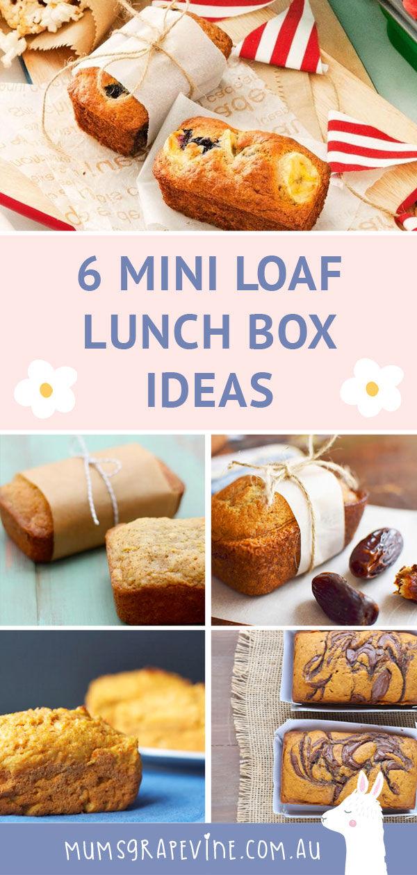 Mini loaf lunch box ideas