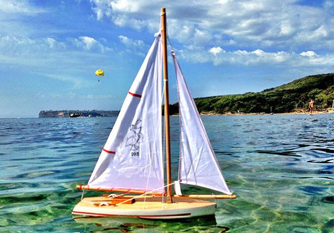 Handmade sailing boats for children