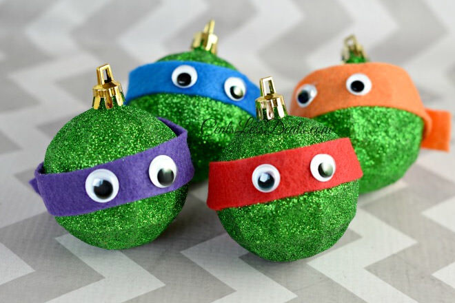 Little boys will go crazy for these Teenage Mutant Ninja Turtles handmade baubles.
