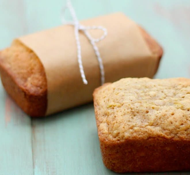 These mini zucchini bread loaves are a great afternoon snack that the kids will love.