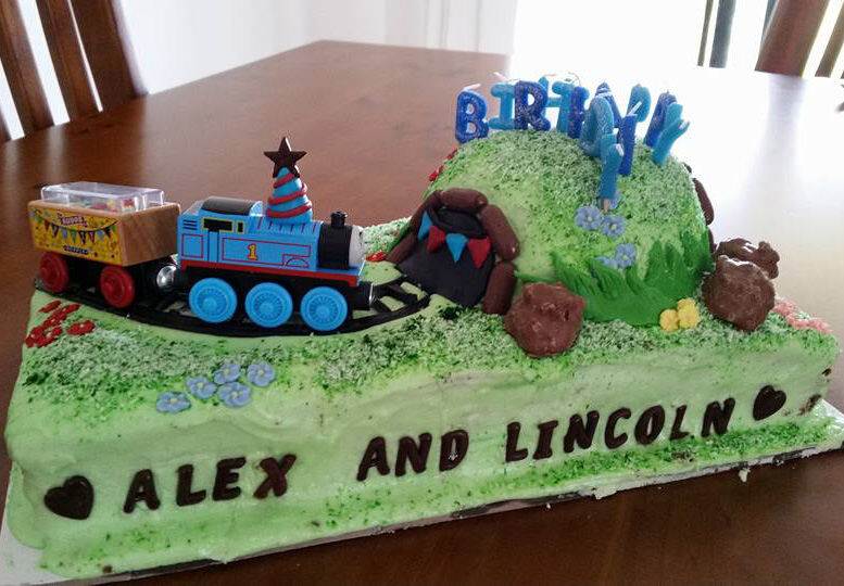 A Cakey Train Trip Through The Countryside Is Perfect Treat For These Lucky Twins Via Mums Grapevine Facebook Member K Job
