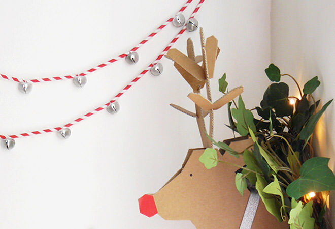 Easy DIY Straw and Bell Christmas Garland