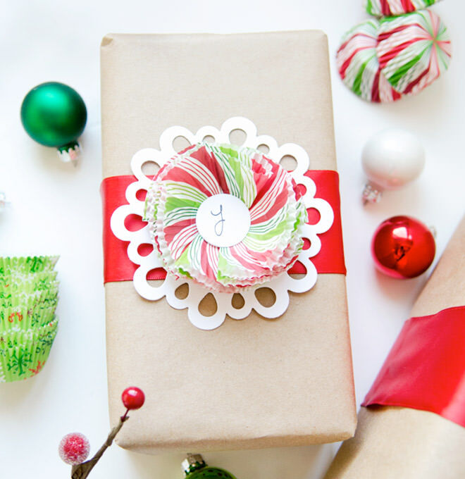 Cupcake liners are as pretty as ribbon and can even be recycled!