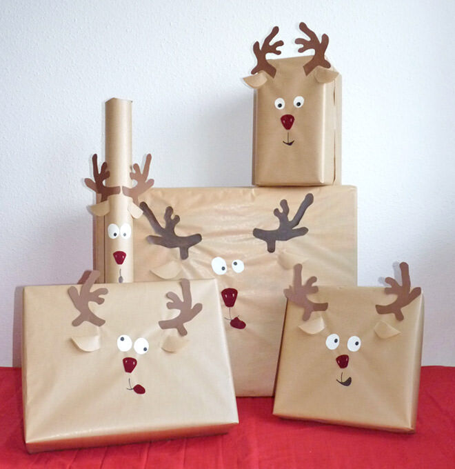 these crazy little reindeers make a an easy way to add some cheekiness to christmas this