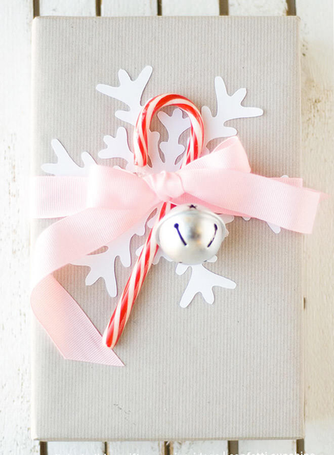 Fun gift wrapping with candy canes