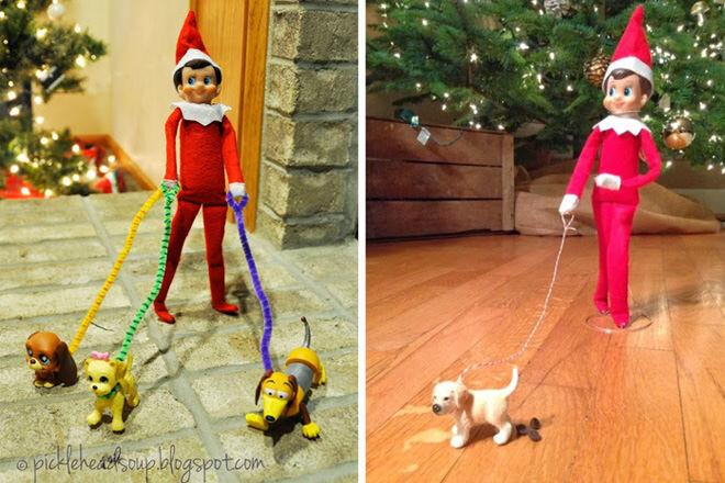 Elf on the Shelf - The dog walker