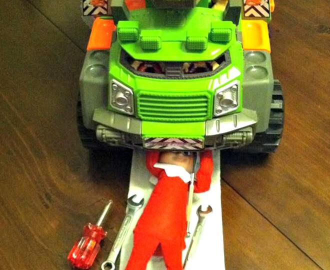 Elf on the Shelf becomes a mechanic