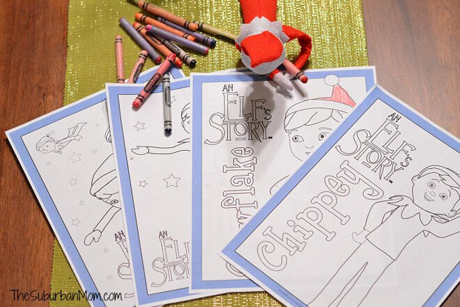 Elf on the Shelf Mindful Colouring In