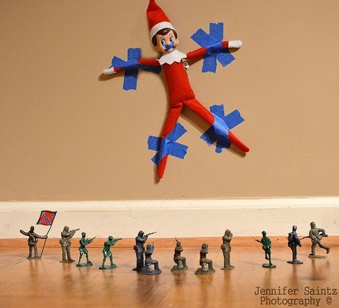 Elf on the Shelf goes under attack