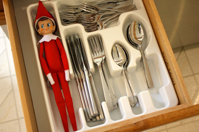 Hide and seek with Elf on the Shelf