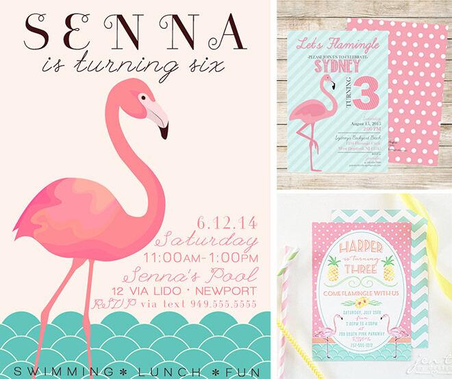 ETSY Printable Flamingo Party Invitations