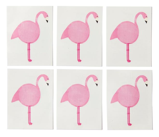 Temporary Tattoos for a Flamingo Party