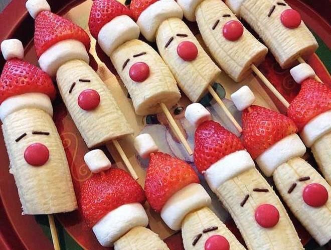 Fun fruity Santa snacks