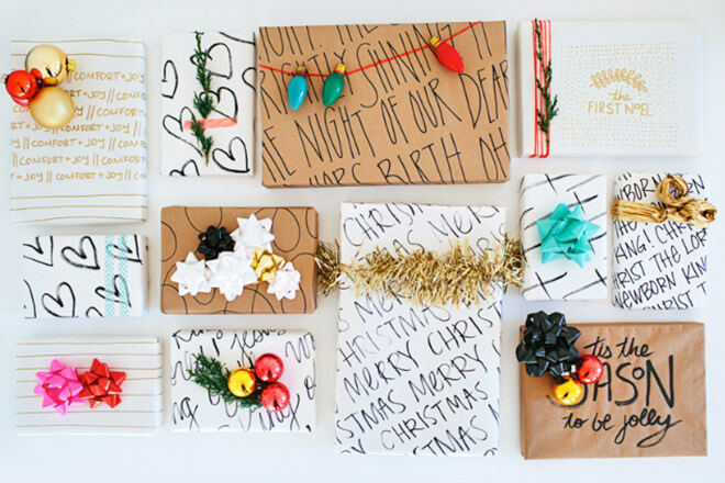 Hand drawn wrapping paper ideas