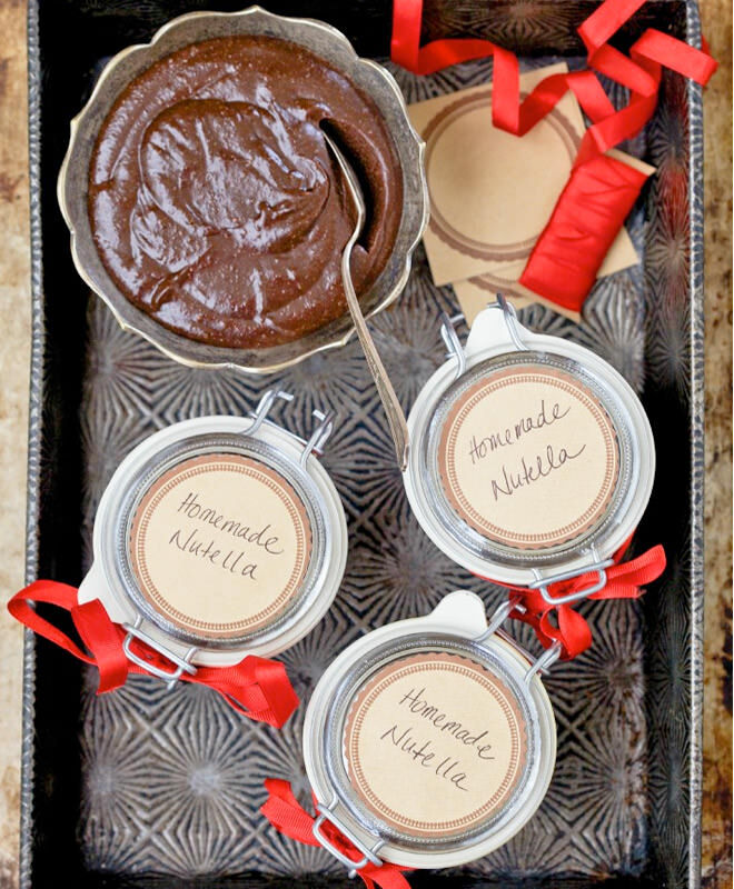 Homemade gifts: Nutella jars