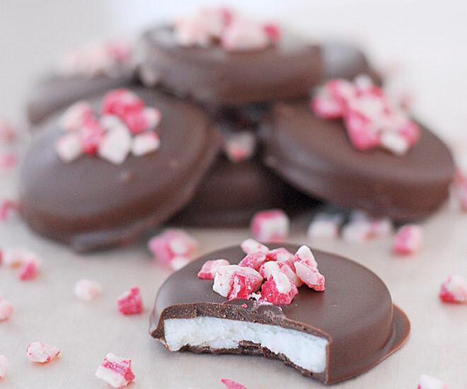 Chocolate peppermint patties