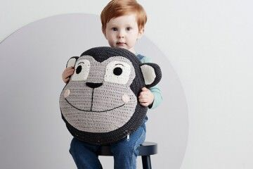 LaDeDah Monkey snuggle cushion