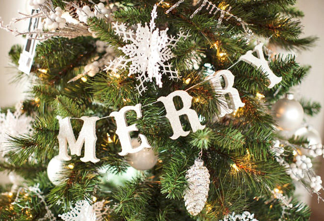 Easy DIY letter garland for the Christmas tree
