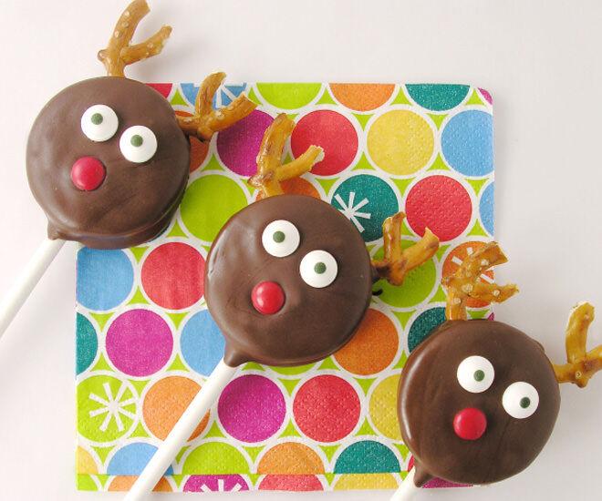 Reindeer Oreo Pops!