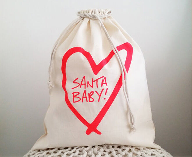 Santa Baby Christmas Sack