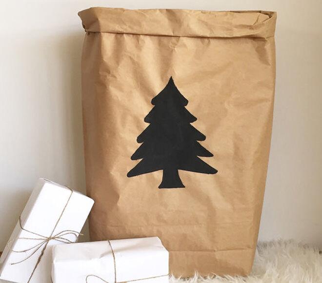 Paper Santa Sack by White Moon Design