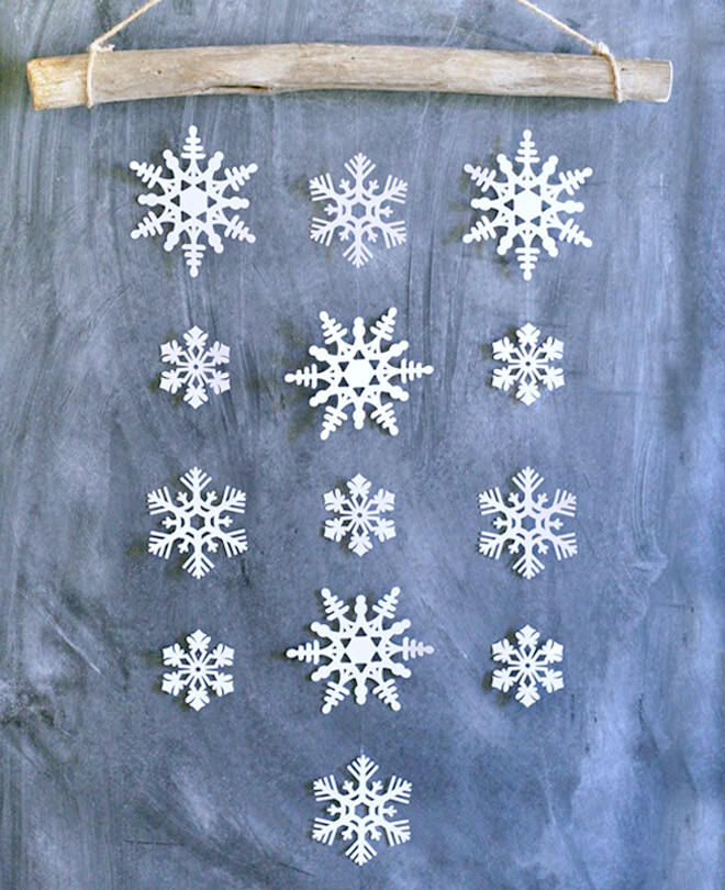 DIY hanging snowflake decoration