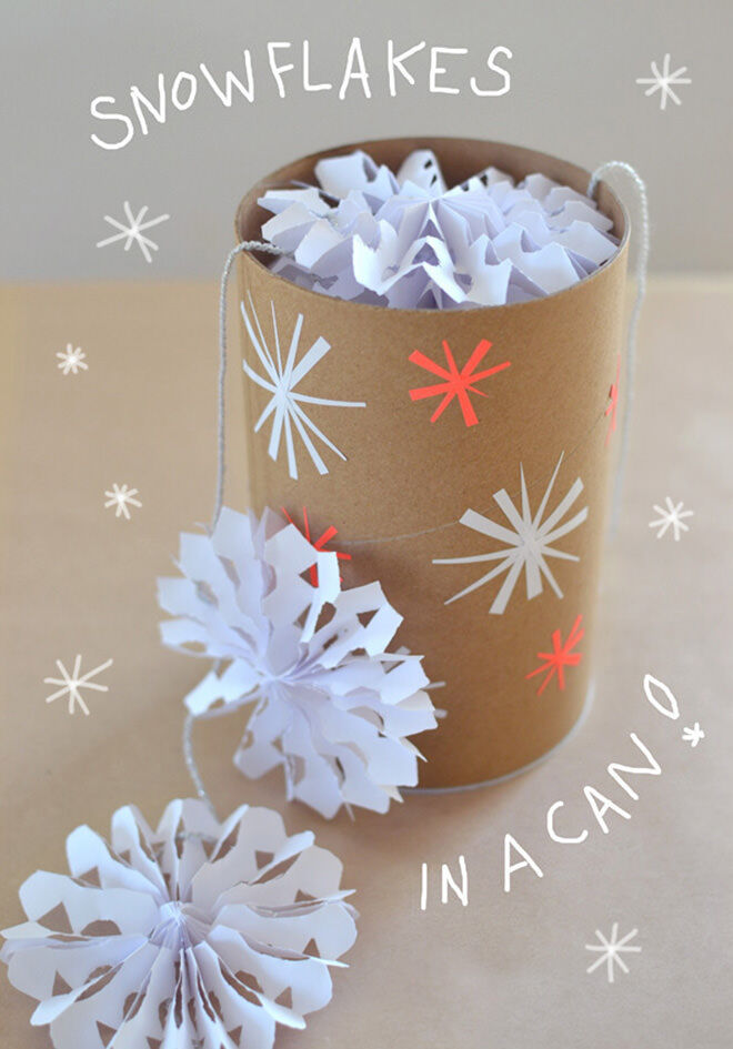 Snowflakes in a can