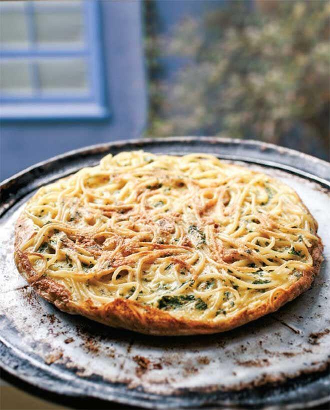 Leftover Spaghetti frittata