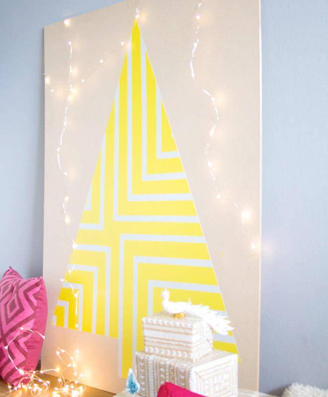 Plywood Fluro Christmas Tree