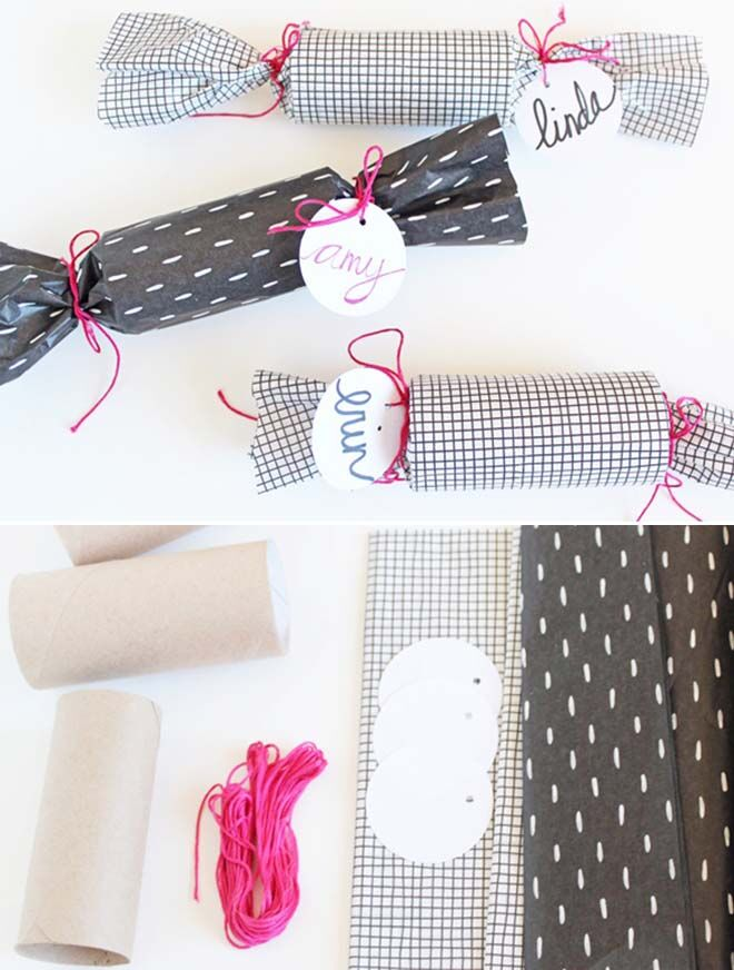 Easy DIY Black Christmas Crackers with a dash of Pink