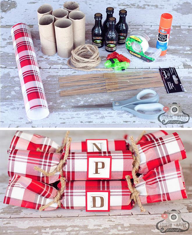 Easy DIY Tartan Christmas Crackers