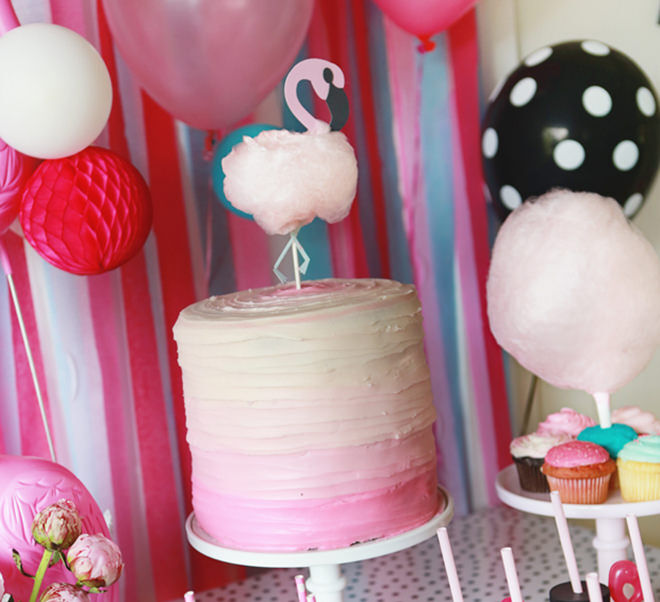 Flamingo Cake for a Flamingo Party