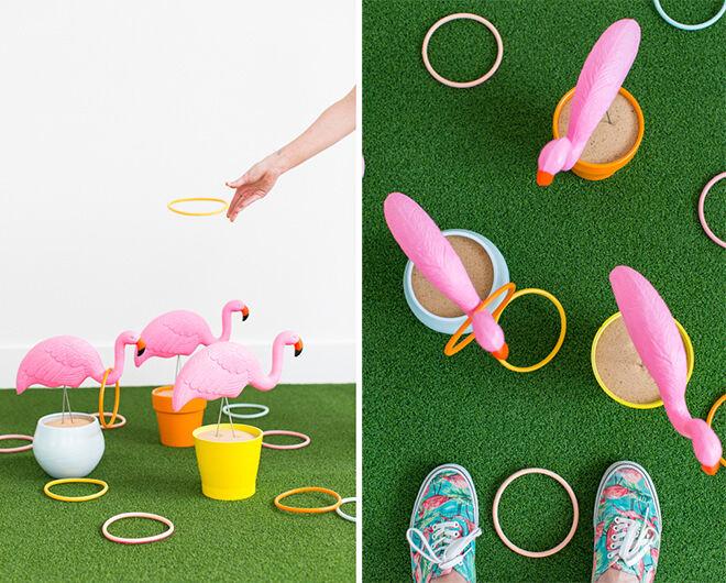 DIY Flamingo Party games