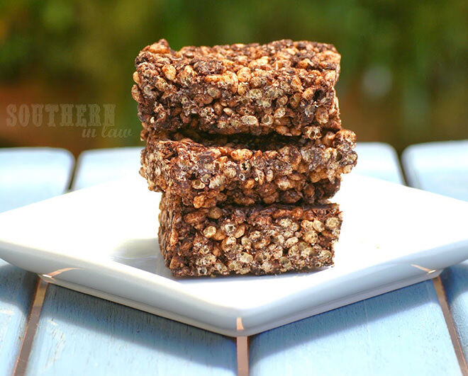 Healthy choc crackle slice - lunch box ideas you can freeze ahead