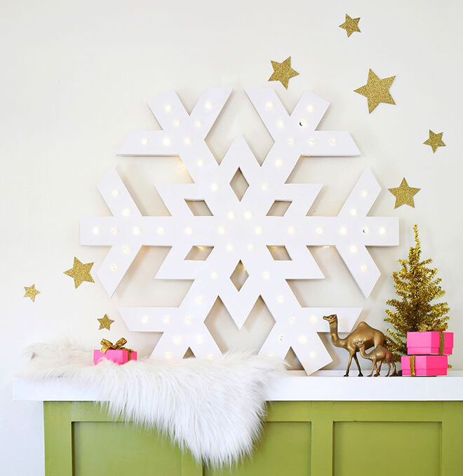 DIY plywood snowflake decoration