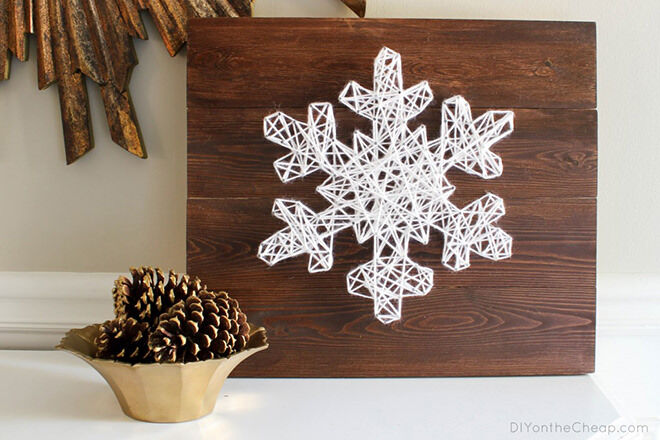 Snowflake string craft decoration