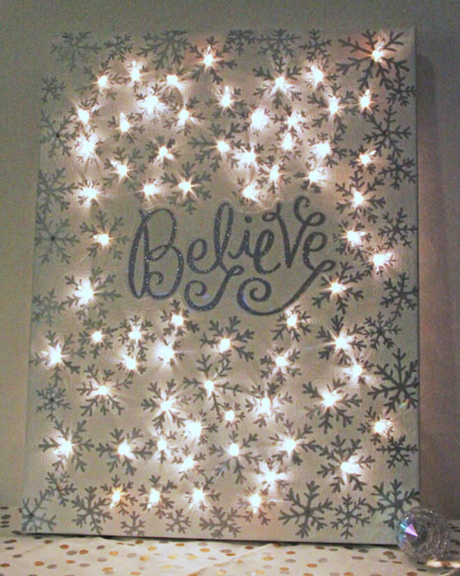 DIY Christmas Light Art
