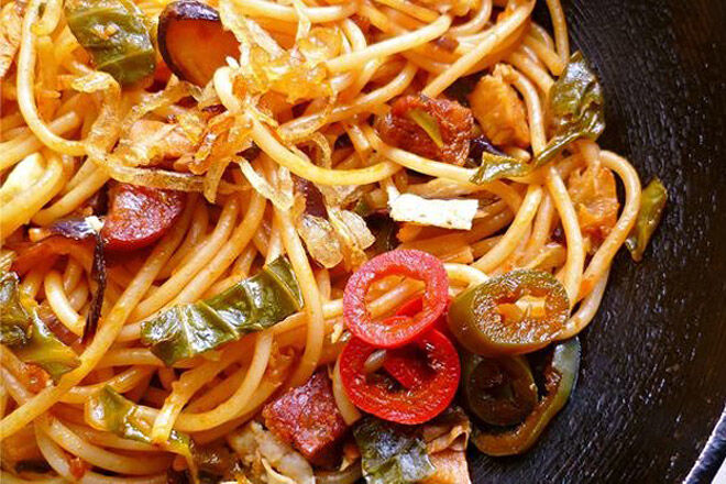 spicy fried noodles recipe