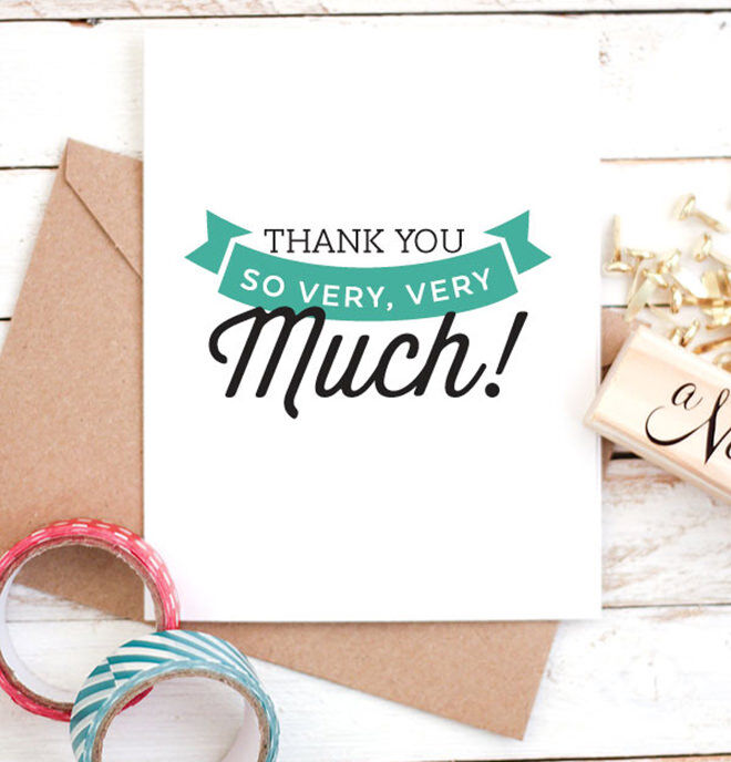 Printable Thank you card for End of Year Teachers gifts