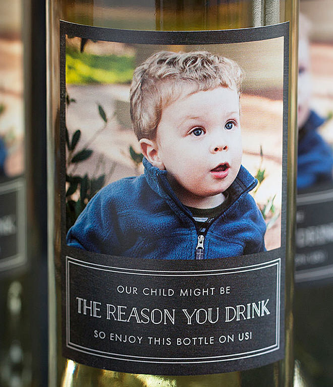 DIY End of Year Teachers Gift Wine Bottle - Your child is the reason they drink