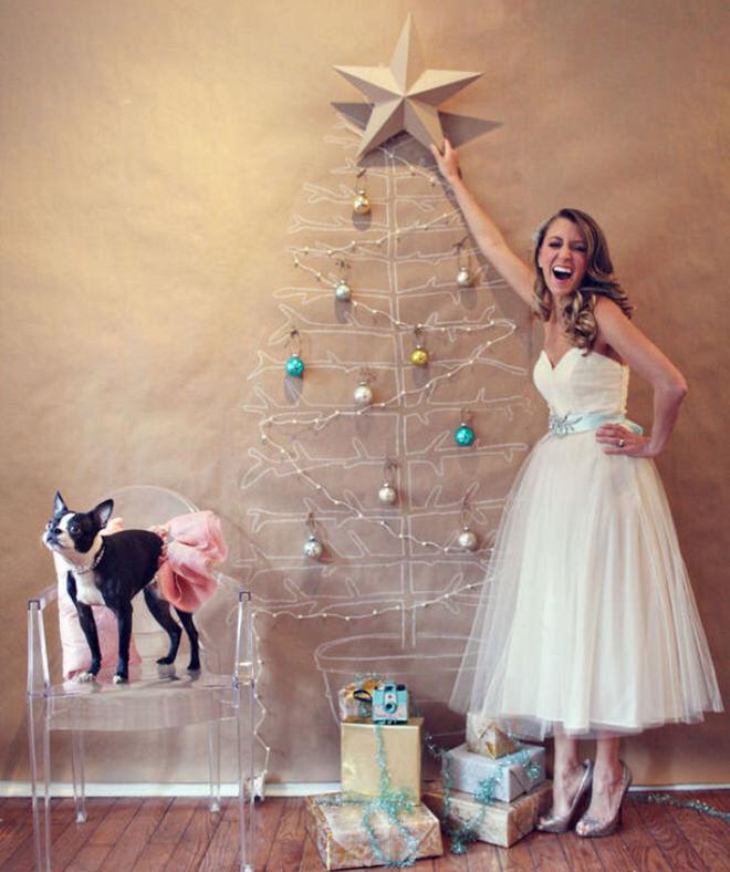 DIY Brown Paper Christmas Tree