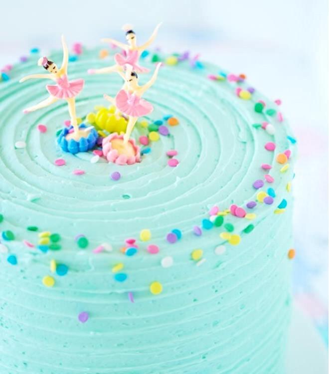 Confetti ballerina birthday cake