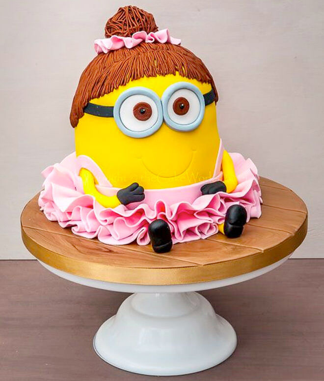 Minion ballerina cake