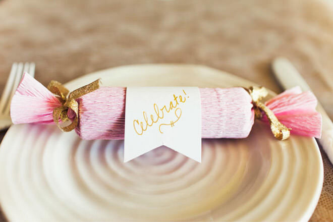 Pink and Gold DIY Christmas Crackers