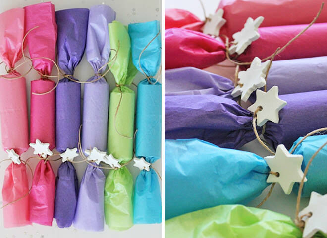 Easy DIY Tissue paper Christmas crackers
