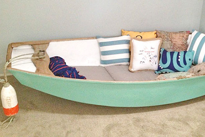 DIY boat reading nook